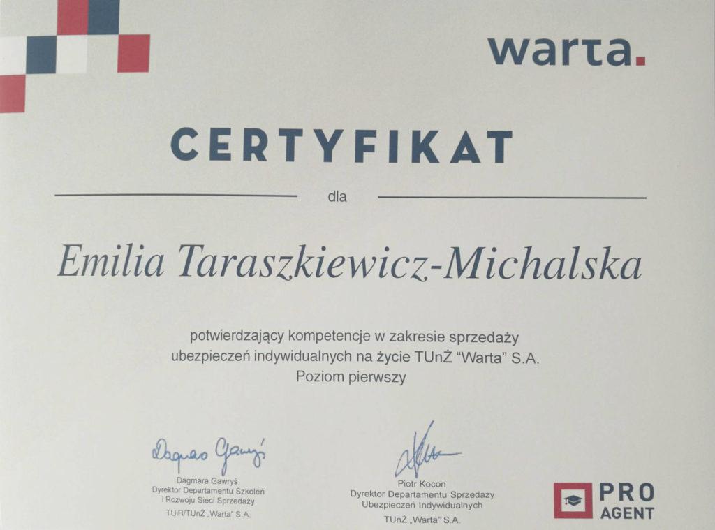Emilia Taraszkiewiecz-Michalska Warta